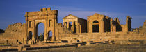 Old ruins of buildings in a city, Sbeitla, Kairwan, Tunisia by Panoramic Images