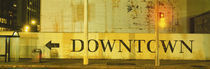 Downtown Sign Printed On A Wall, San Francisco, California, USA von Panoramic Images