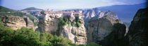 Monastery on the top of a cliff, Roussanou Monastery, Meteora, Thessaly, Greece von Panoramic Images