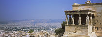 City viewed from a temple, Erechtheion, Acropolis, Athens, Greece von Panoramic Images