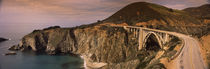 Bridge on a hill, Bixby Bridge, Big Sur, California, USA von Panoramic Images