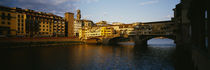 Bridge Across A River, Arno River, Ponte Vecchio, Florence, Italy von Panoramic Images