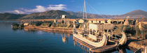 Reed Boats at the lakeside, Lake Titicaca, Floating Island, Peru by Panoramic Images