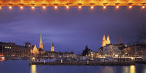Switzerland, Zurich, Cityscape of Zurich at Christmas by Panoramic Images