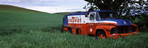 Antique gas truck on a landscape, Palouse, Whitman County, Washington State, USA by Panoramic Images