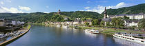 Town at the riverside, Mosel River, Cochem, Rhineland-Palatinate, Germany von Panoramic Images