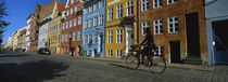 Woman Riding A Bicycle, Copenhagen, Denmark von Panoramic Images