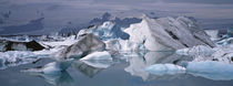 Glacier Floating On Water, Vatnajokull Glacier, Iceland von Panoramic Images