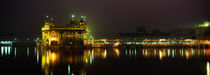 Temple lit up at night, Golden Temple, Amritsar, Punjab, India von Panoramic Images