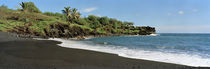 Surf on the beach, Black Sand Beach, Maui, Hawaii, USA by Panoramic Images