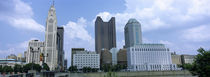 USA, Ohio, Columbus, Clouds over tall building structures by Panoramic Images