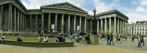 Tourists in front of a museum, British Museum, London, England by Panoramic Images