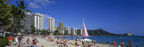 Waikiki Beach Oahu Island HI USA by Panoramic Images