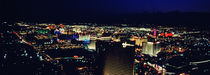 High angle view of a city lit up at night, The Strip, Las Vegas, Nevada, USA by Panoramic Images