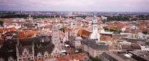 High angle view of buildings in a city, Munich, Bavaria, Germany von Panoramic Images