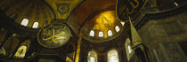 Low angle view of a ceiling, Aya Sophia, Istanbul, Turkey by Panoramic Images