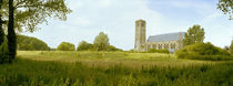 Church on a landscape, Damme, West Flanders, Belgium by Panoramic Images