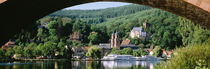 Town viewed through an arch bridge, Miltenberg, Bavaria, Germany by Panoramic Images