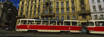 Electric train on a street, Prague, Czech Republic by Panoramic Images