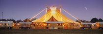 Circus lit up at dusk, Circus Narodni Tent, Prague, Czech Republic von Panoramic Images
