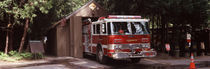 Fire engine in a national park, Yosemite National Park, California, USA von Panoramic Images
