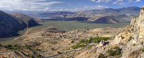 High angle view of islands, Itea, Chrisso, Delphi, Phocis, Greece von Panoramic Images
