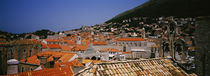 High angle view of a town, Ciry, Dubrovnik, Croatia by Panoramic Images