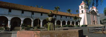 Fountain at a church, Mission Santa Barbara, Santa Barbara, California, USA by Panoramic Images