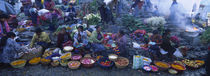 High Angle View Of A Group Of People In A Vegetable Market, Solola, Guatemala von Panoramic Images