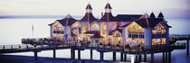 Sea Bridge Lit Up At Dusk, Sellin, Isle Of Ruegen, Germany by Panoramic Images