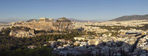 Town on a hill, Philopappou Hill, Athens, Greece by Panoramic Images