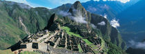 High angle view of ruins of ancient buildings, Inca Ruins, Machu Picchu, Peru von Panoramic Images