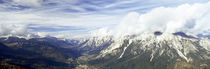 Clouds over mountains, Mt Rite, Dolomites, Cadore, Veneto, Italy von Panoramic Images