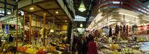 Stalls in a market, Mercado De La Esperanza, Santander, Cantabria, Spain von Panoramic Images