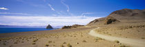 Dirt road on a landscape, Pyramid Lake, Nevada, USA by Panoramic Images