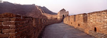 Path on a fortified wall, Great Wall Of China, Mutianyu, China von Panoramic Images