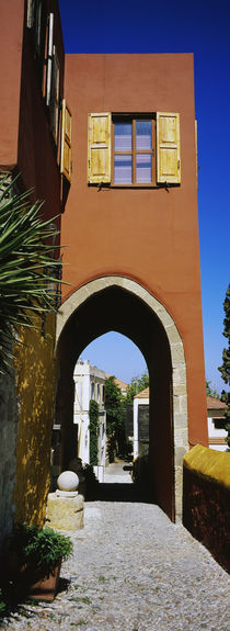 Archway of a house, Rhodes, Greece von Panoramic Images