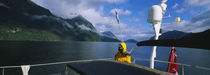 Sailor on a yacht, New Zealand by Panoramic Images