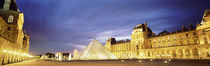 Light Illuminated In The Museum, Louvre Pyramid, Paris, France by Panoramic Images