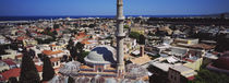 High angle view from top of Bell Tower, Rhodes, Greece von Panoramic Images