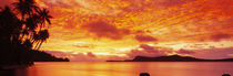 Sunset, Huahine Island, Tahiti by Panoramic Images