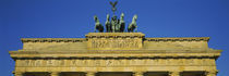 High section view of an entrance, Brandenburg Gate, Berlin, Germany by Panoramic Images