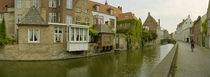 Houses along a channel, Bruges, West Flanders, Belgium by Panoramic Images