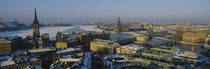 High angle view of a city, Stockholm, Sweden by Panoramic Images