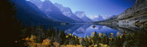 Mountains Reflected In Lake, Glacier National Park, Montana, USA by Panoramic Images