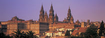 Cathedral in a cityscape, Santiago De Compostela, La Coruna, Galicia, Spain by Panoramic Images