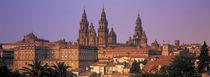 Cathedral in a cityscape, Santiago De Compostela, La Coruna, Galicia, Spain von Panoramic Images