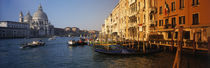 Italy, Venice, Santa Maria della Salute, Grand Canal by Panoramic Images