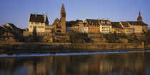 Reflection of buildings in water, Bremgarten, Aargau, Switzerland by Panoramic Images