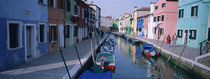 Houses along a canal, Burano, Italy von Panoramic Images